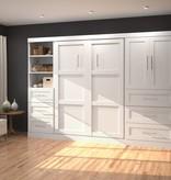Bestar Full Wall bed 120'' kit in White, Pur