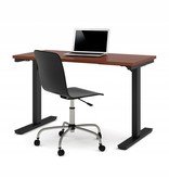 """Bestar Electric Height adjustable table 24"""" x 48"""" in Bordeaux,"""