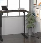 "Bestar Electric Height adjustable table 24"" x 48"" in Dark Chocolate,"