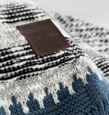 South Shore Lodge Blue and Gray Patterned Throw Blanket