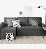 South Shore Canapé-lit d'angle avec rangement Live-it Cozy, Gris charbon