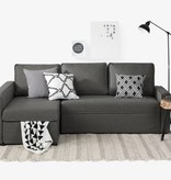 South Shore Live-it Cozy Sectional Sofa-Bed with Storage, Charcoal Gray