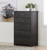 South Shore Fusion 5-Drawer Chest, Gray Oak