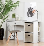 South Shore Annexe Clear and Gray Eiffel Style Office Chair