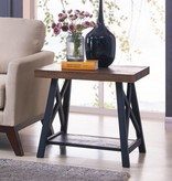 !nspire Langport Accent Table in Rustic Oak