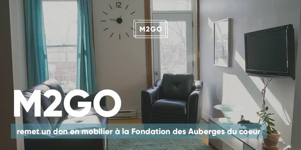 M2GO remet un don en mobilier à la Fondation des Auberges du coeur