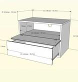 Nexera Acapella 5 pcs Bedroom Set, White and Ebony, Queen Bed (60'')