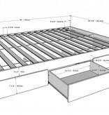 Nexera Aura 4 pcs Bedroom Set, White, Queen Bed (60'')