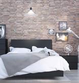 Nexera Corbo 4 pcs Bedroom Set, Black, Full Bed (54'')