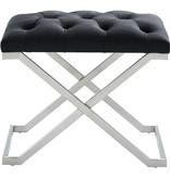 !nspire Aldo Single Bench in Black and Silver