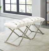 !nspire Aldo Single Bench in Ivory and Silver