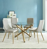 !nspire Carmilla Dining Table in Gold