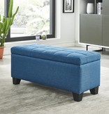 !nspire Lila Storage Ottoman in Blue