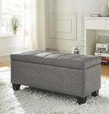 !nspire Lila Storage Ottoman in Grey