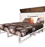 """Sleep Chest Chest Bed with Queen Size (60"""") Mattress, White and Acacia, Cape Cod"""