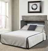 """Sleep Chest Chest Bed with Full Size (54"""") Mattress Stockholm Brushed Grey"""