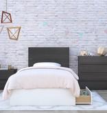 "Nexera 3-Drawer Twin (39"") Size Bed, White, Blvd"