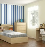 "Nexera 3-Drawer Twin (39"") Size Bed, Natural Maple, Alegria"