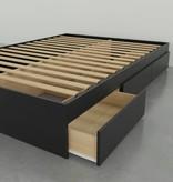 "Nexera 3-Drawer Twin (39"") Size Bed, Black, Avenue"