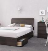 "Nexera 3-Drawer Full (54"") Size Bed, Ebony, Allure"