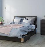"Nexera 3 Drawer Queen (60"")  Size Bed, Ebony, Serenade"