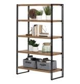South Shore Gimetri 5 Fixed Shelves - Shelving Unit-Rustic Bamboo
