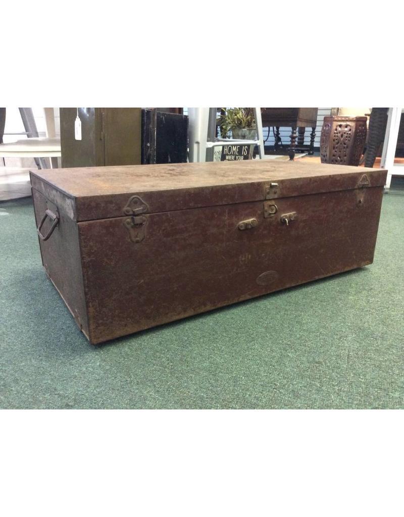 WWII Era S. Tajbhai & Sons Metal Shipping Box