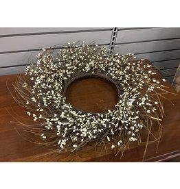 """Ivory Pip Twig Wreath, 22"""""""
