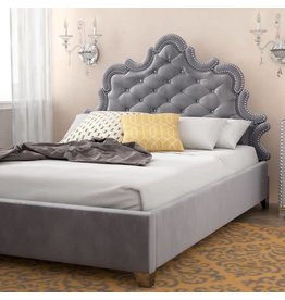 Rosdorf Park Spence Velvet Upholstered Platform Bed - Queen