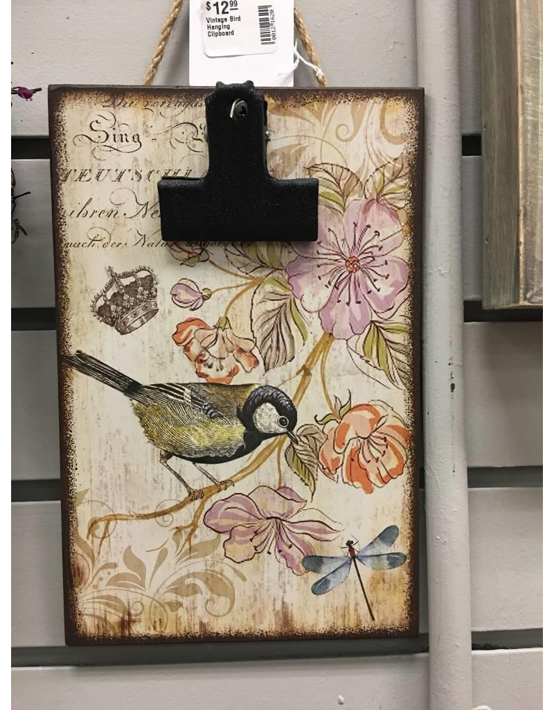 Vintage Bird Hanging Clipboard