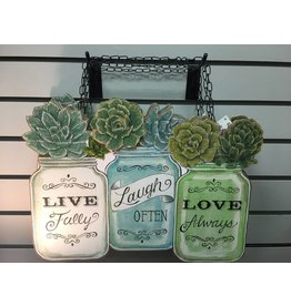 Live, Love, Laugh Jar Plaque