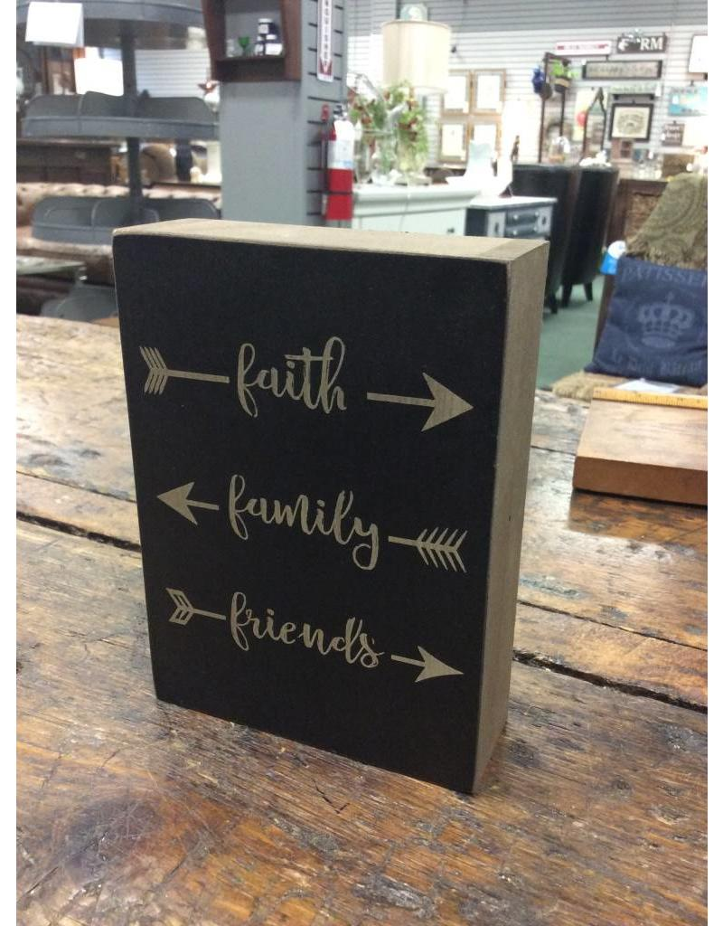 Faith, Family, Friends Box Sign