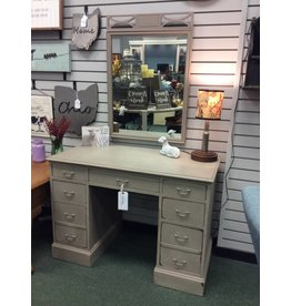 Vintage Seven Drawer Vanity/ Desk w/ Mirror