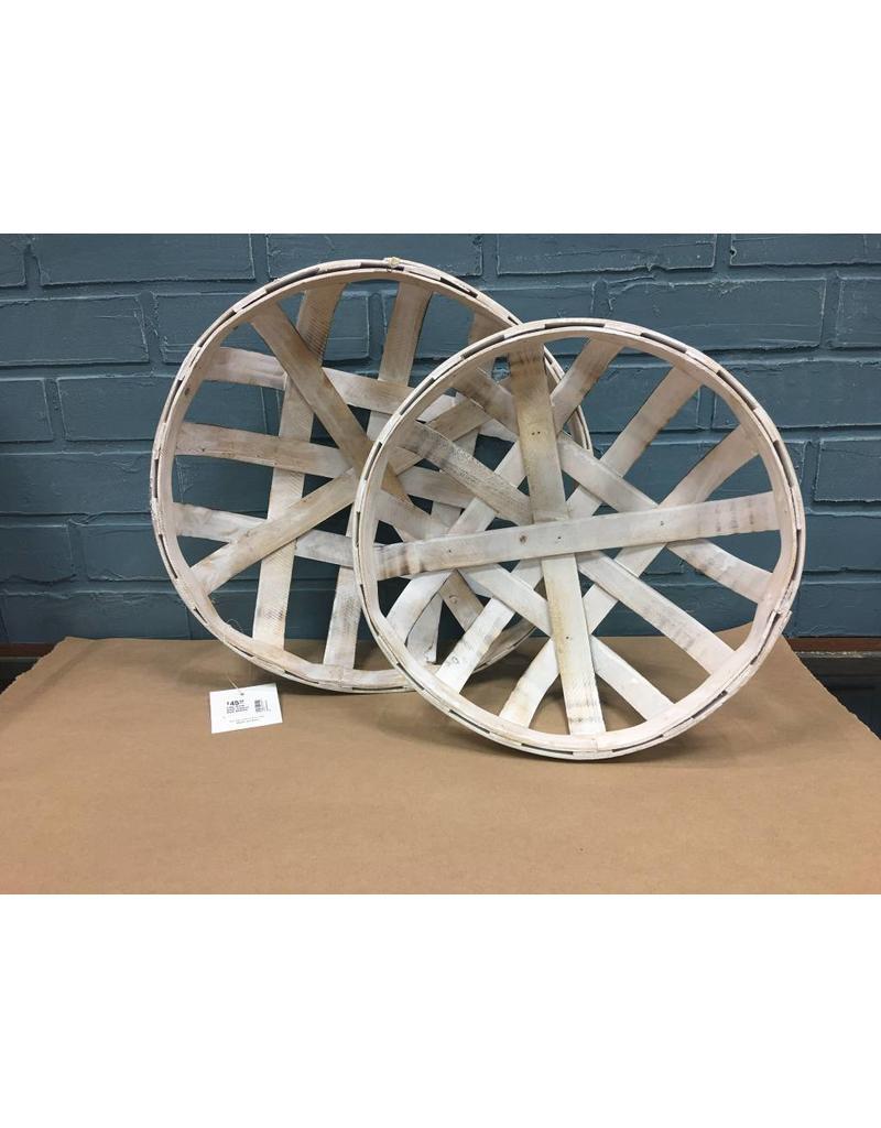 2/Set White Wash Tobacco Style Baskets