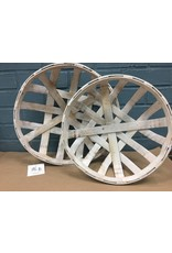 2/Set White Wash Tobacco Style Baskets