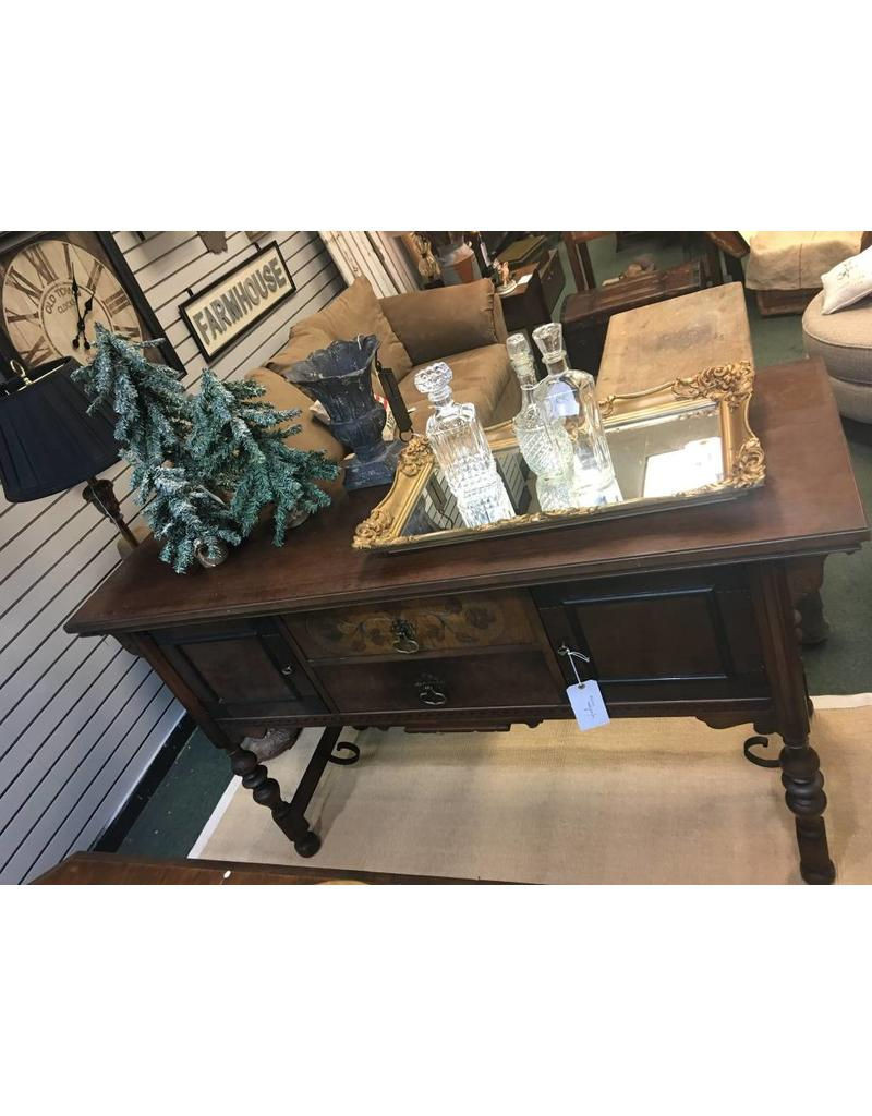 Vintage Buffet with Metal Scroll Base