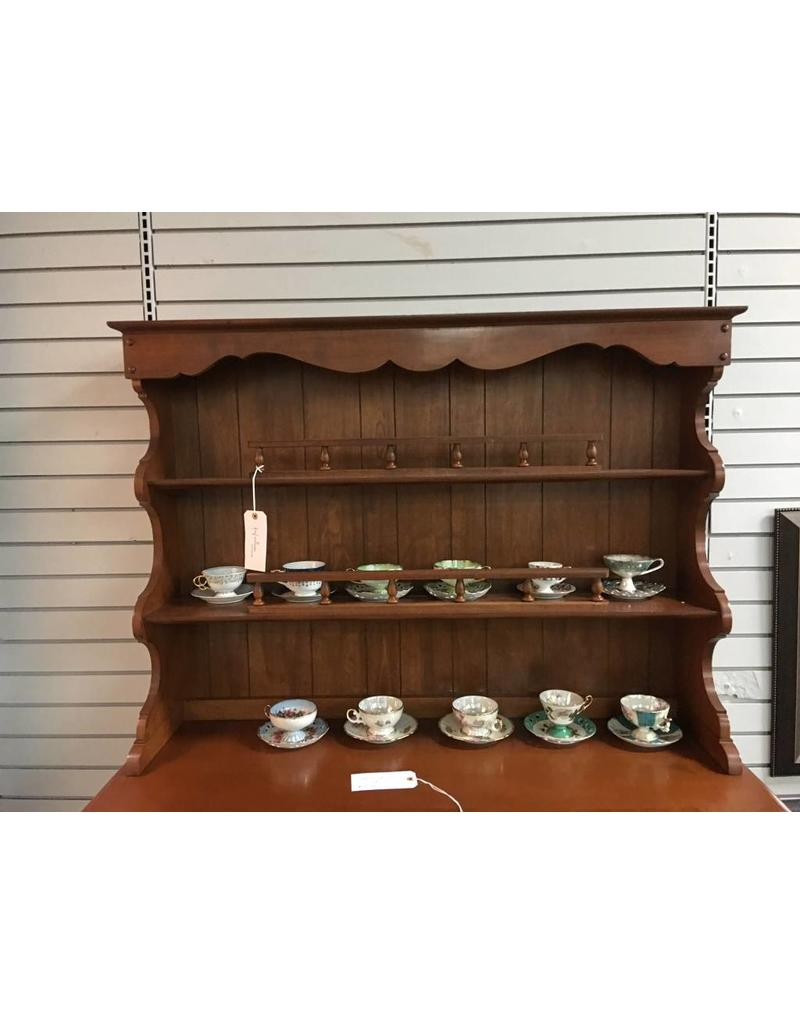 Solid Cherry Open Top Colonial Style Hutch