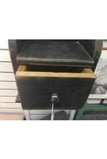 Primitive Black Candle Shelf w Drawer