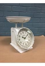 Rustic White Scale w/Clock