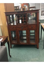 Dark Wood Bar Cabinet w Wine Rack