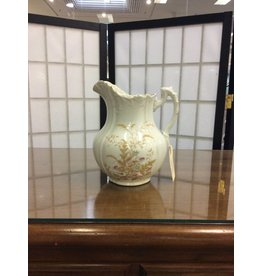Ironstone Pitcher w/ Floral Pattern