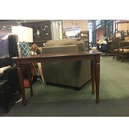 Dark Wood Console Table w  Turned Legs