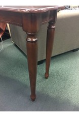 Dark Wood Console Table w  Turned Legs