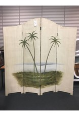 Vintage Hand Painted Dual Sided Room Divider - FIRM