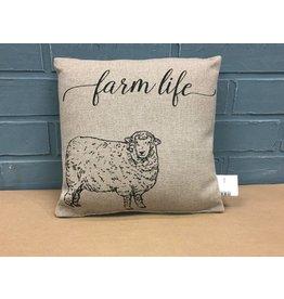 "Farm Life Pillow - 10"""