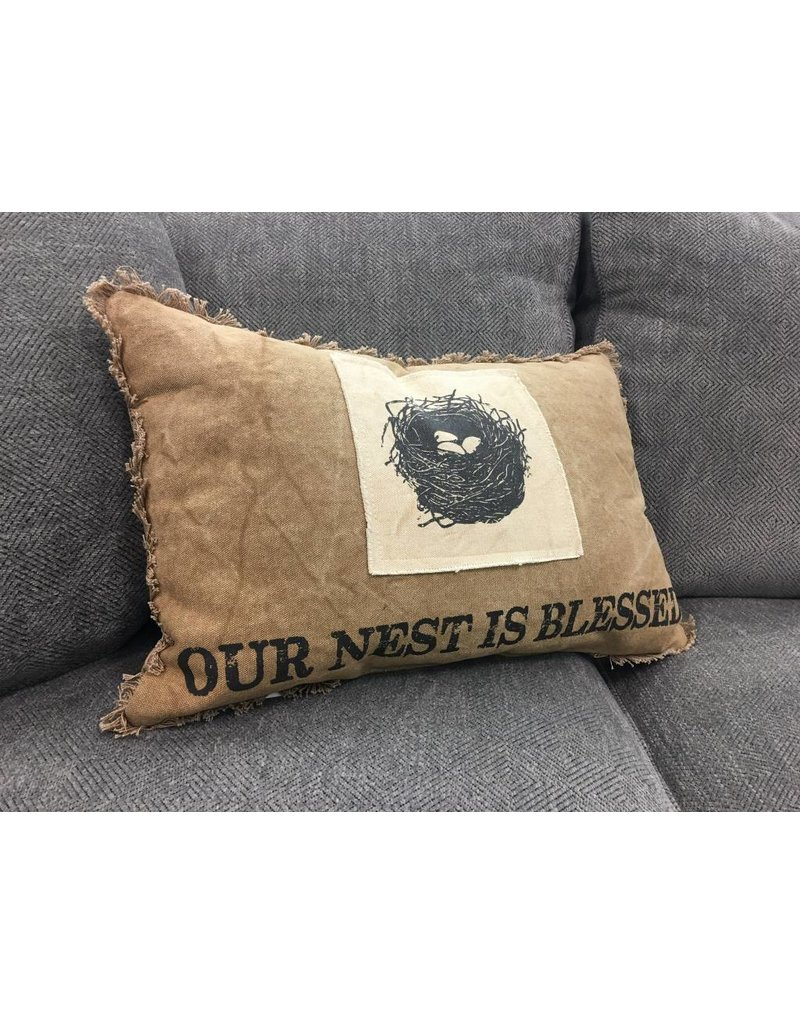 Nest is Blessed Pillow