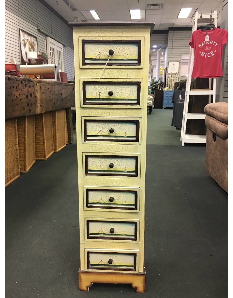 Small Painted 7 Drawer Chest