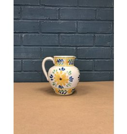 Italian Floral Themed Water Pitcher