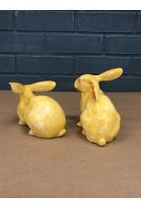 Pair of Yellow Ceramic Bunnies