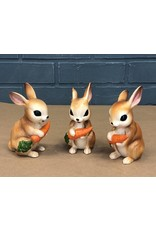 Set of Three Ceramic Bunnies